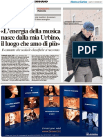 «L'energia della musica nasce dalla mia Urbino, il luogo che amo di più»