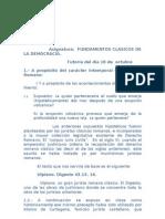 FUNDAMENTOS CLÁSICOS DE LA DEMOCRACIA
