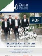 Plakat Rastrelli Cello Quartett Rutesheim