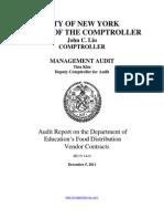 DOE, Food Distribution Audit