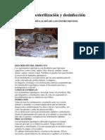 Central de esterilización y desinfección