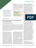 Music Training for the Development of Auditory Skills