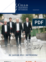 Rastrelli Cello Quartet Flyer Rutesheim