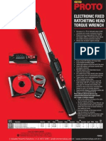 Proto Electronic Fixed Ratcheting Head Torque Whench P20102
