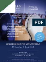Plakat Cello-Meisterkurse Rutesheim 2012