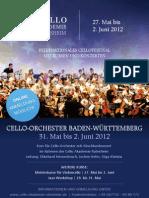 Plakat Cello-Orchester Baden-Württemberg 2012