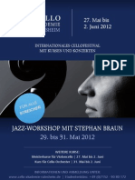 Plakat Jazz-Workshop mit Stephan Braun 2012