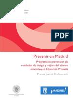 Prevenir en Madrid Desde Primaria