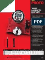 Proto Torque Calibiration Equipment P20990