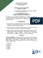 Prórroga Juzgados Laborales de Pequeñas Causas Acuerdo PSAA11-8829 hasta diciembre 31 de 2012