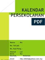 Kalendar Persekolahan 2012 Presentation