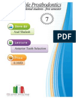 Anterior Teeth Selection Prosthpo Lec 7