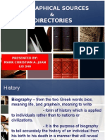 Biographical Dictionaries and Directories Presentation