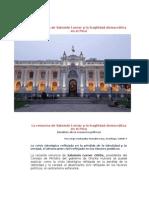La renuncia de Salomón Lerner y la fragilidad democrática en el Peru
