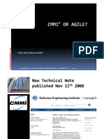 CMMI MADE PRACTICAL 2009 Delivering on CMMI® with Agile Methods