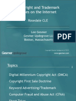 Copyright and Trademark Issues on the Internet