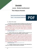 Simulado - Direito Constitucional - Parcialmente Comentado