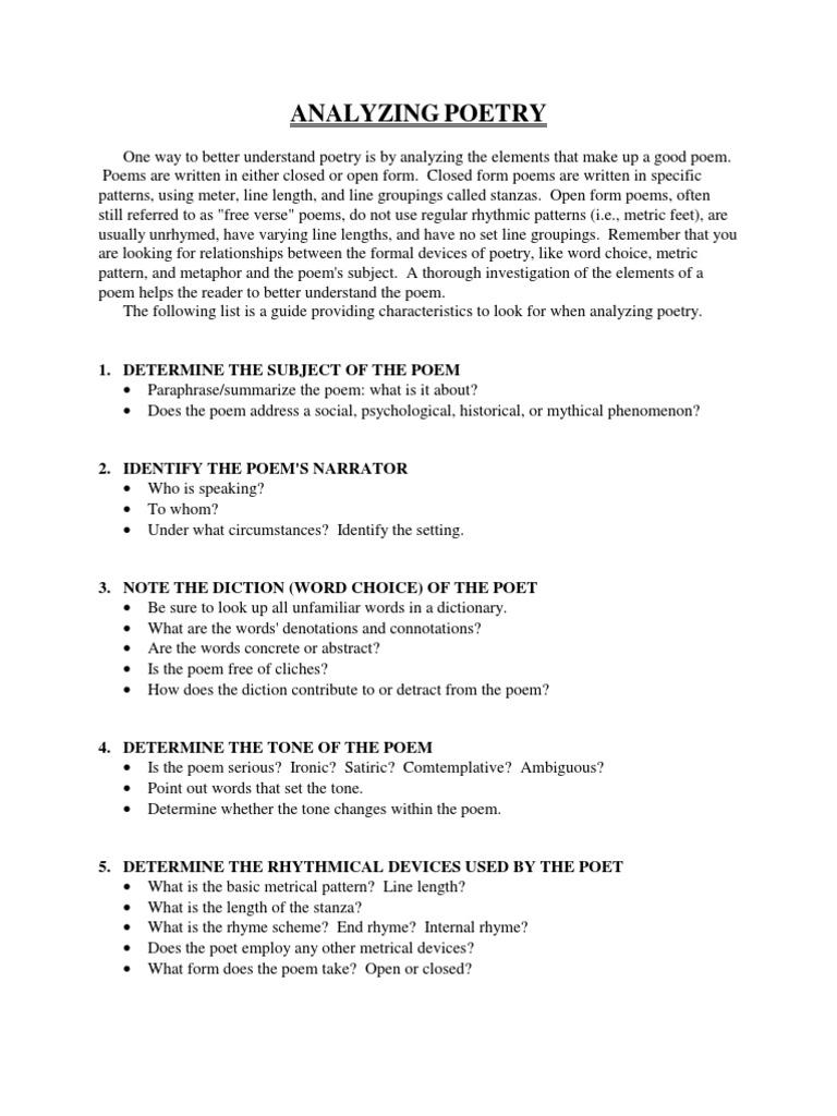22896247 Analyzing Poetry Metre Poetry 14 Views
