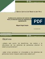 Análisis de la cobertura del sistema de pensiones en Perú y la elección entre los regímenes de reparto y capitalización