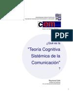 Teoría cognitiva sistémica de la comunicación