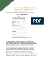 Manual para la formulación del Inventariado de Recursos Turisticos a Nivel Nacional