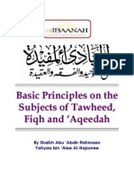 Basic Principles in Tawhid, Fiqh and Aqeedah  - Shaikh Yahya al-Hajooree