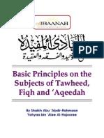 Basic Principles in Tawhid, Fiqh and Aqeedah  - Shaikh Yahya al-Hajooree