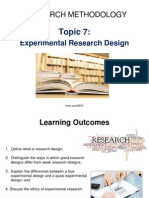 Topic 7 - Experimental Research Design