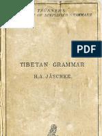 Jäschke - Tibetan Grammar
