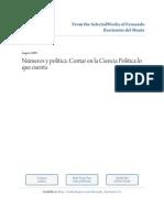 Contar en Ciencia Politica Es Lo Que Cuenta -Cuantitativismo