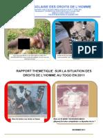Rapport Thématique de la LTDH sur les Droits de l'Homme en 2011