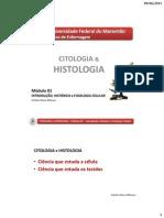 Módulo 01 - Introdução, Histórico e Fisiologia Celular