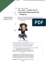 Deshabilitar Servicios Innecesarios Para Acelerar PC