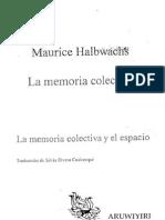 Maurice Halbwachs_La Memoria Colectiva