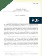 Agencia social, estructuración y política - Marcelo Fabián Sain