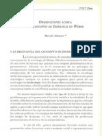 Observaciones acerca del concepto de ideología en Weber - Marcelo Altomare