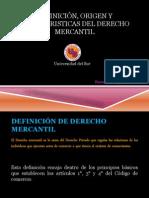 DEFINICIÓN, ORIGEN Y CARACTERISTICAS DEL DERECHO MERCANTIL