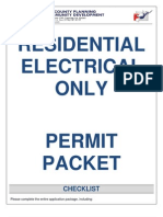 Residential Electrical Only PermitForthsyth