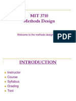 MIT 3710 - Methods Engineering Course