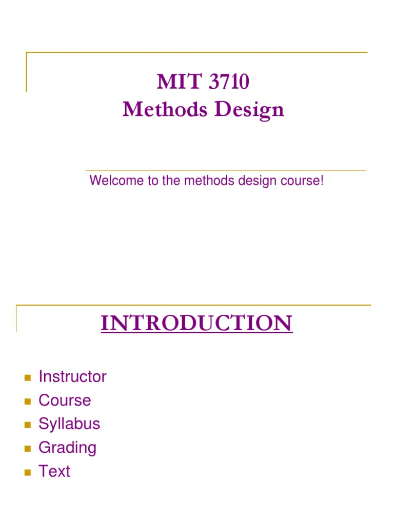 Mit 3710 Methods Engineering Course Lean Manufacturing Engineering
