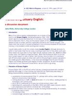 Transcribing Estuary English