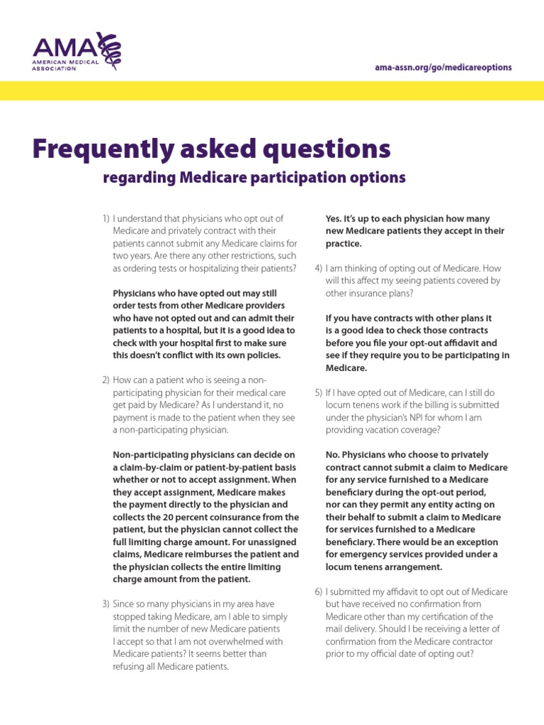 Medicare Options Faq Medicare United States Physician