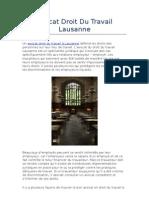 Avocat Droit Du Travail Lausanne