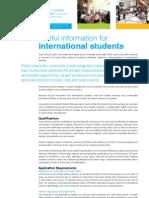 Useful Information for International Students