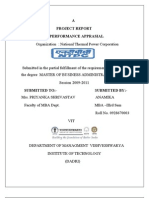 Project Report Performance Appraisal