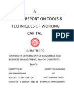 Tools of Working Capital