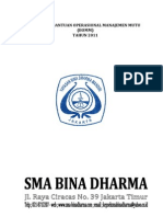 Proposal Bomm Sma Bina Dharma Jakarta Timur