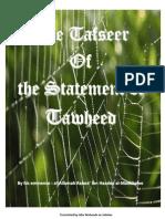 Tafseer Kalimatu-Tawheed - An Explanation of Tawheed - by Shaikh Dr. Rabee' bin Hadee