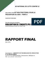 Réalisation de l'enquête IP6 IP7 - Rapport final (ONUSIDA, PNLCS - 2011)