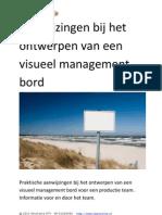 Aanwijzingen Visueel Management Bord(W85)